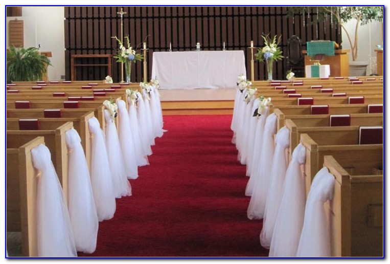 Church Bench Decorations Wedding