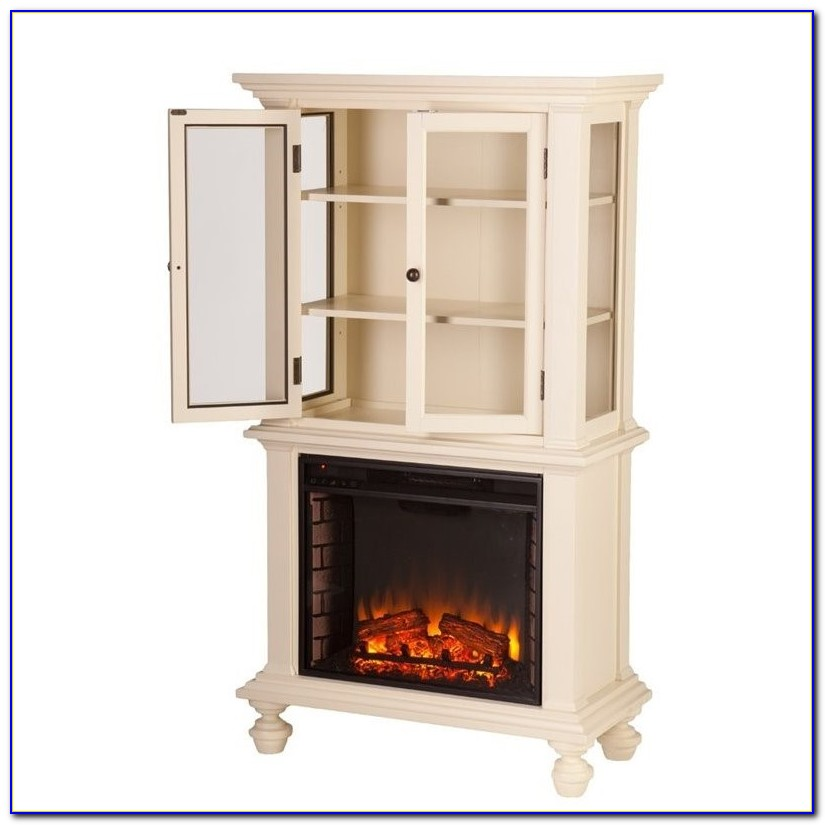 Conway Electric Fireplace With Bookcases