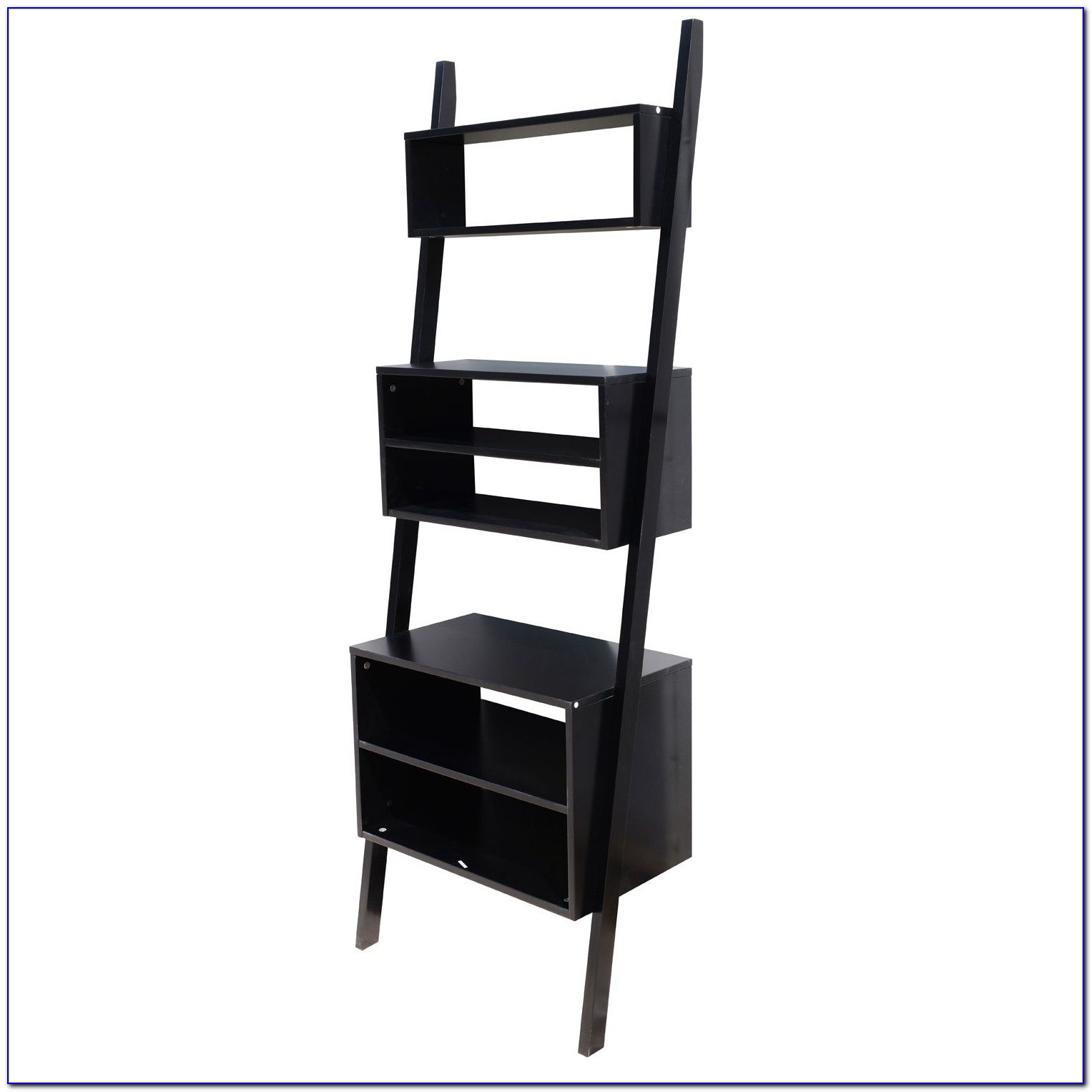 Crate And Barrel Black Leaning Bookcase