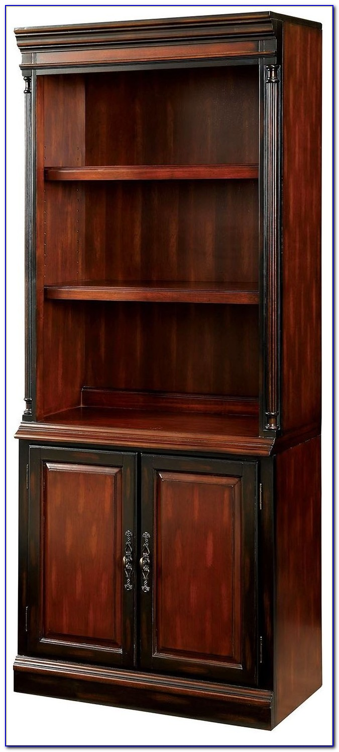 Dark Cherry Two Shelf Bookcase