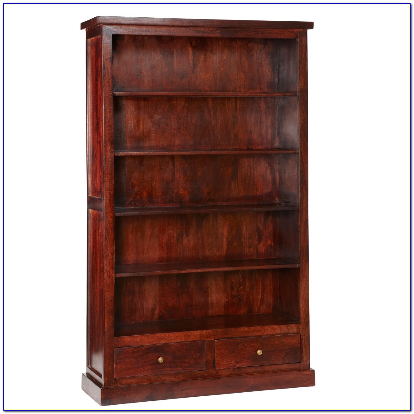 Dark Wood Bookcase With Drawers