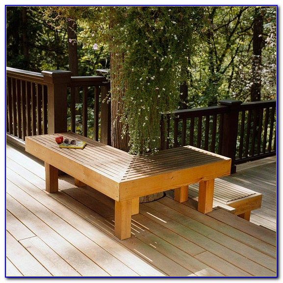 Deck Bench Seating Dimensions