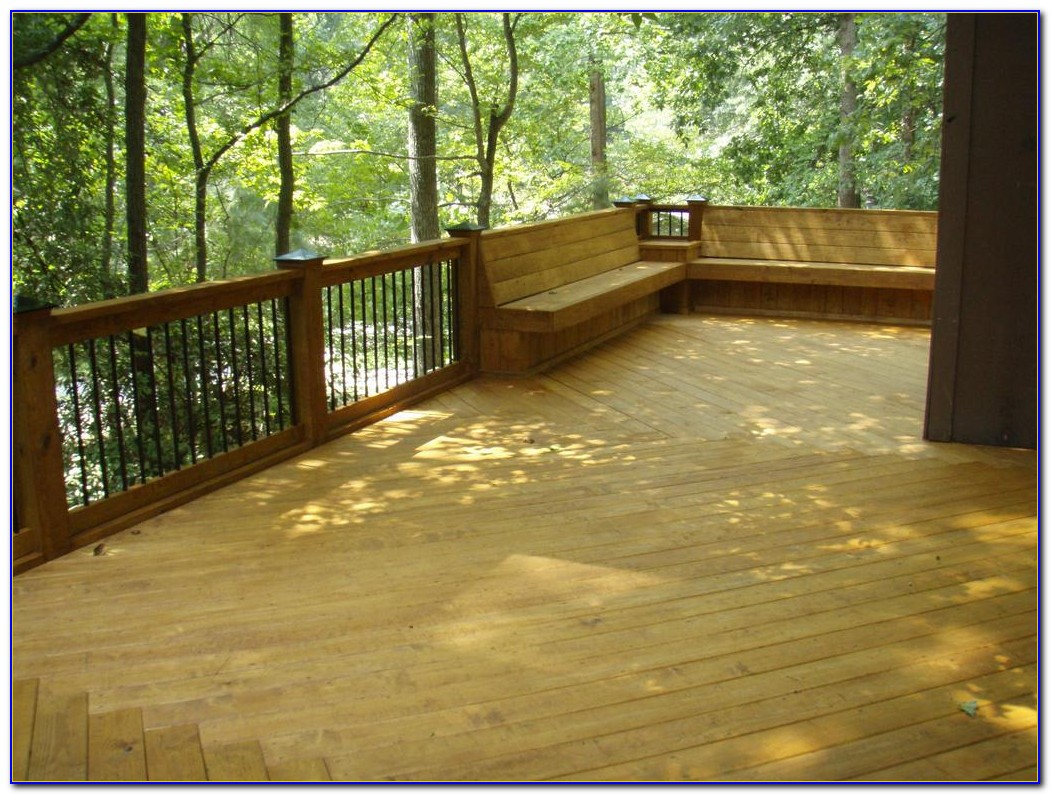 Deck Bench Seating Height
