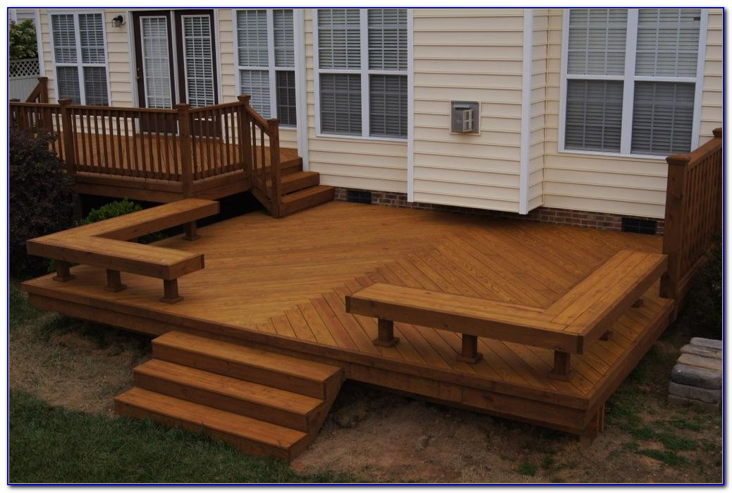 Deck Designs With Bench Seating