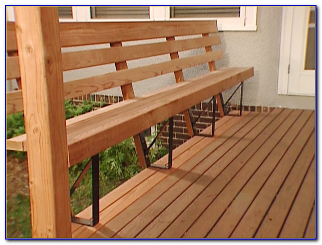 Deck Railing With Bench Seating
