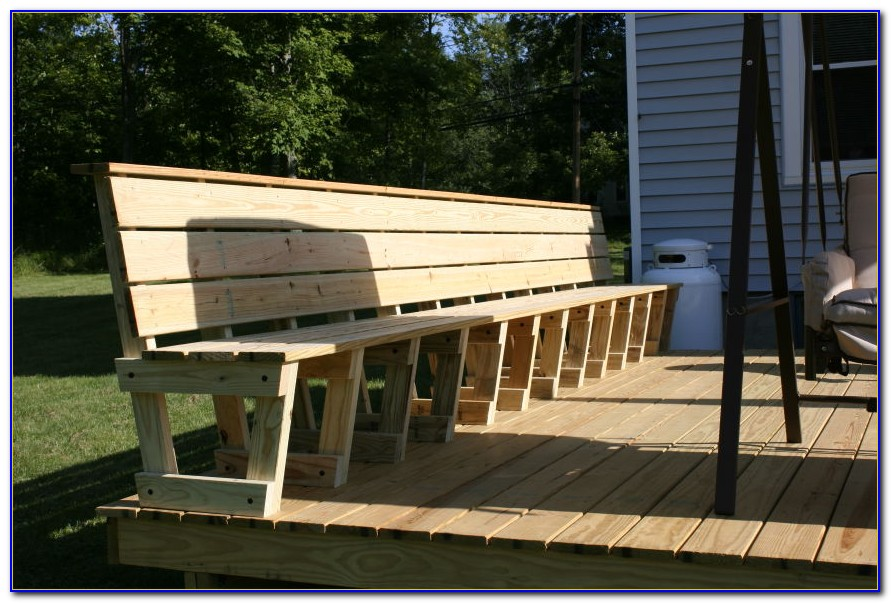 Deck With Bench Seating