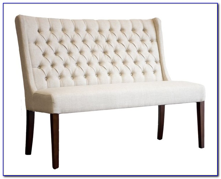 Dining Table Upholstered Bench With Back