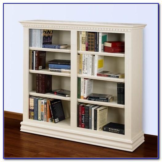 Double Wide Bookcase White