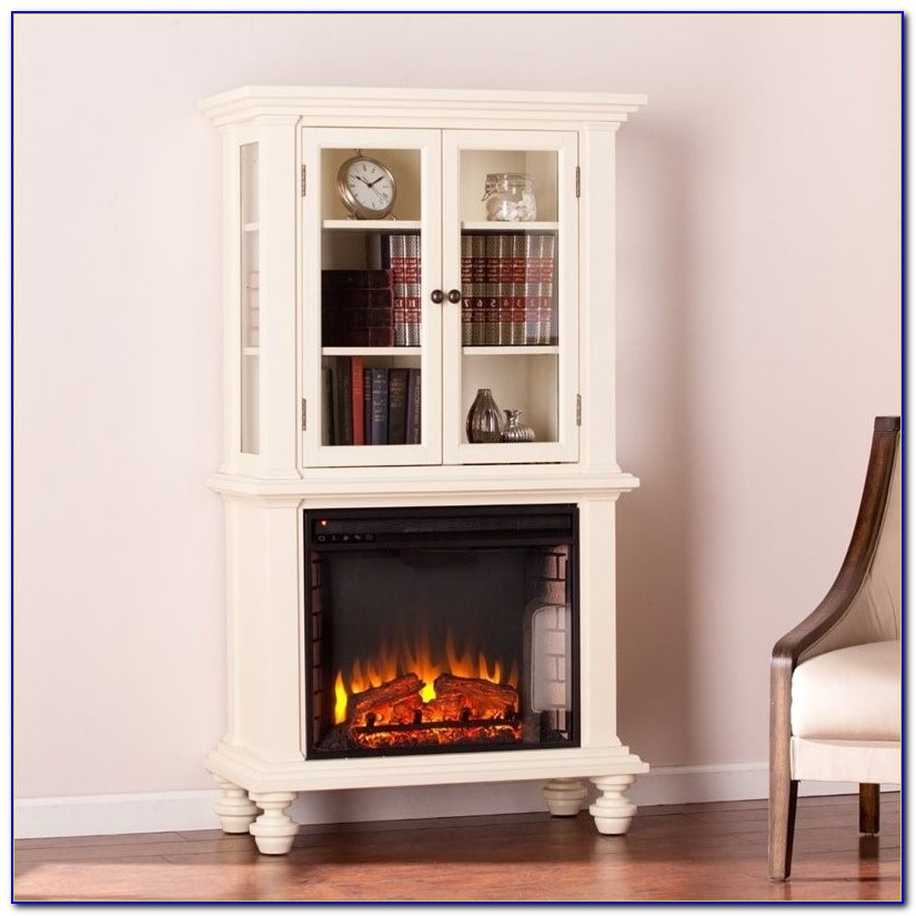 Emerson Electric Fireplace With Bookcases