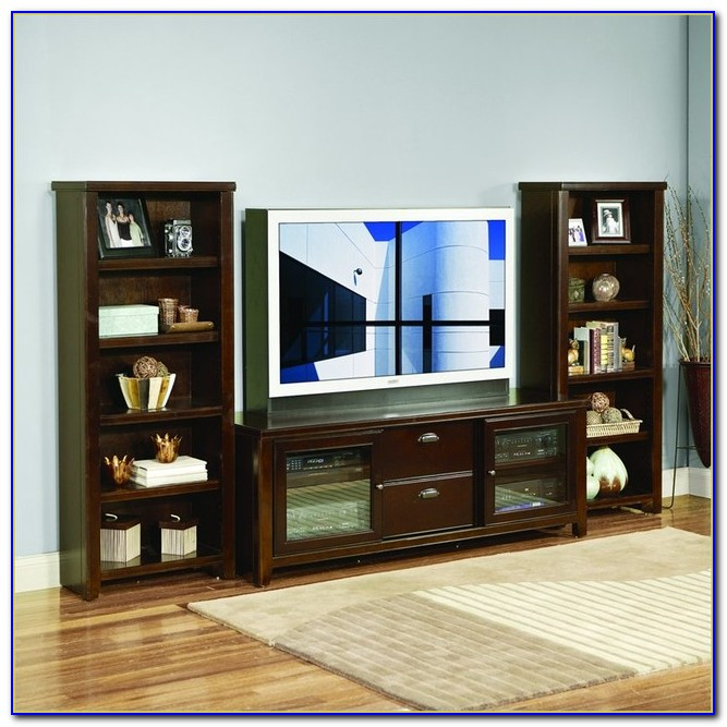 Entertainment Center Matching Bookcases