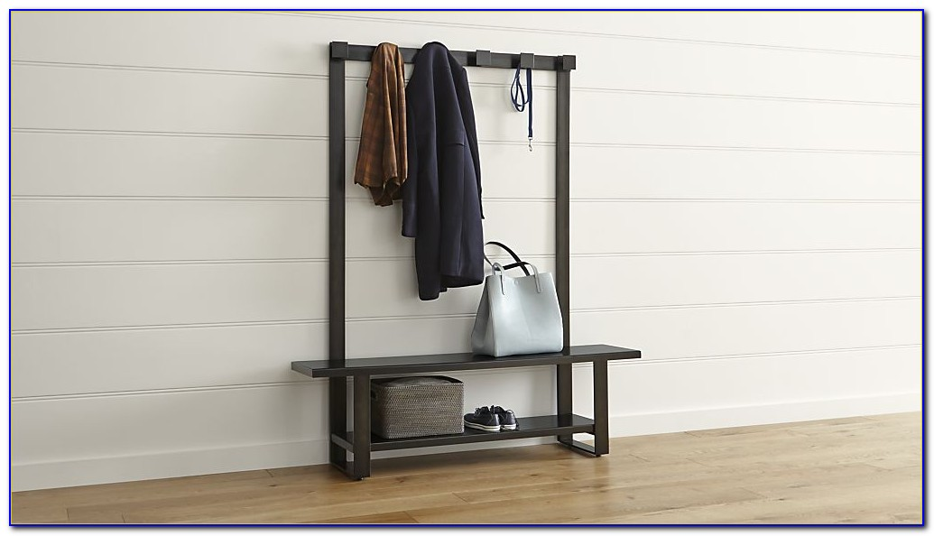 Entryway Bench With Coat Hooks