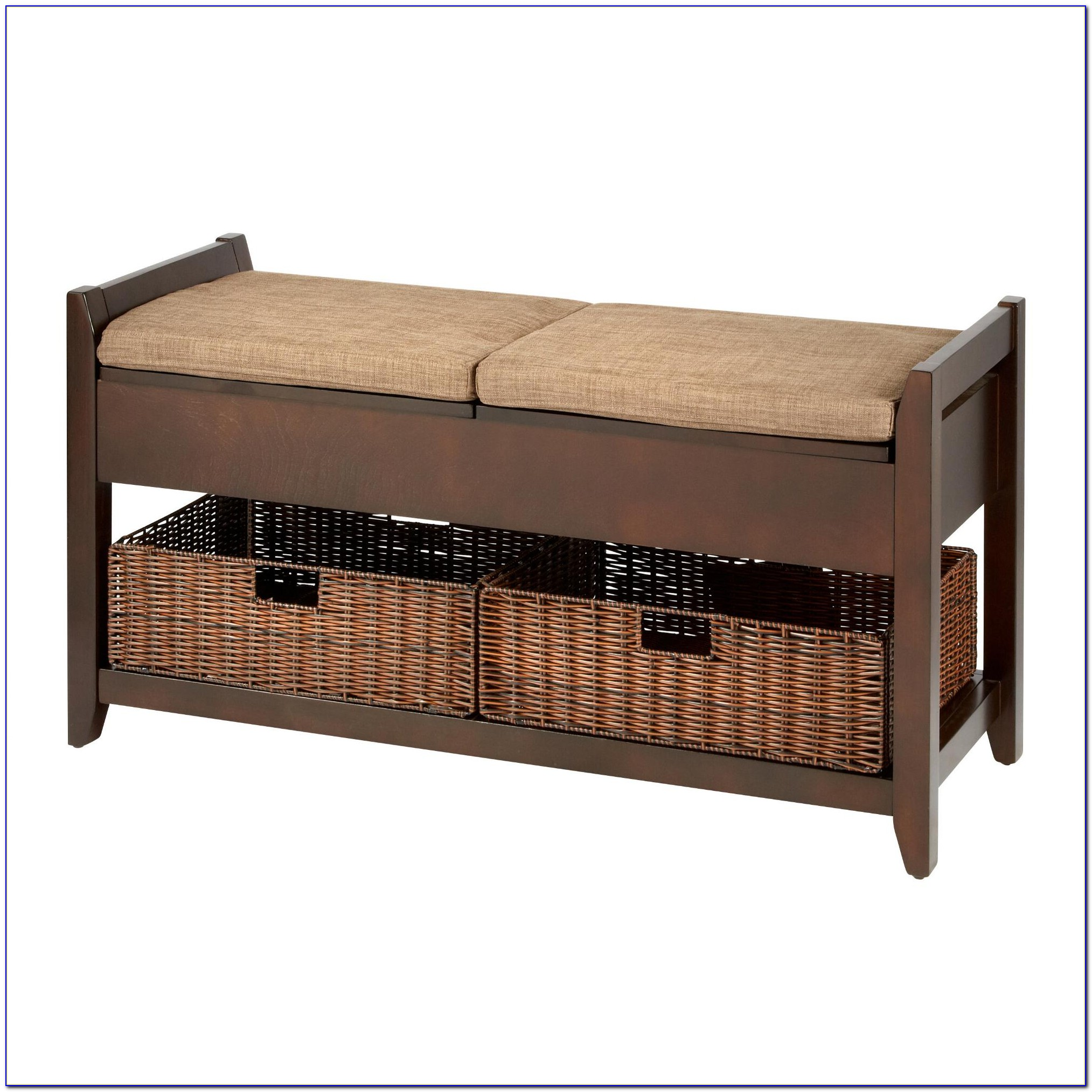 Entryway Benches With Baskets