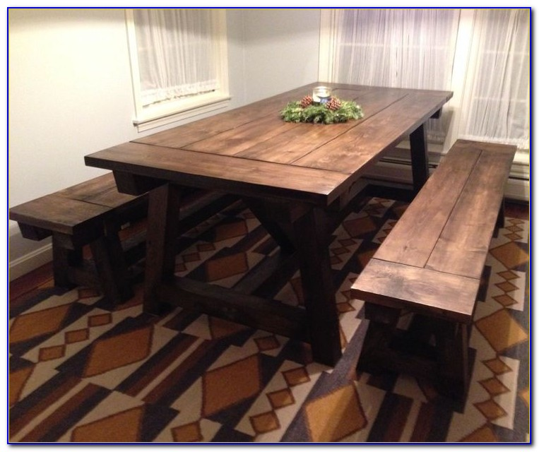 Farmhouse Style Wood Dining Bench