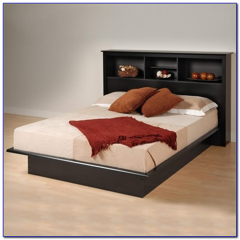 Full Size Bookcase Bed Black