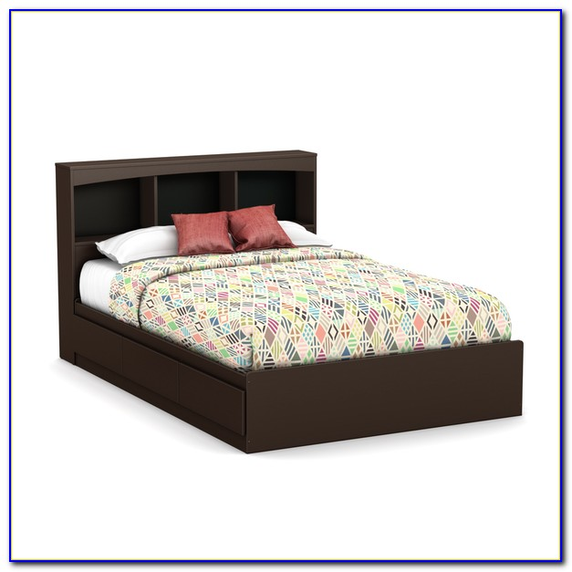 Full Size Bookcase Bed Frame