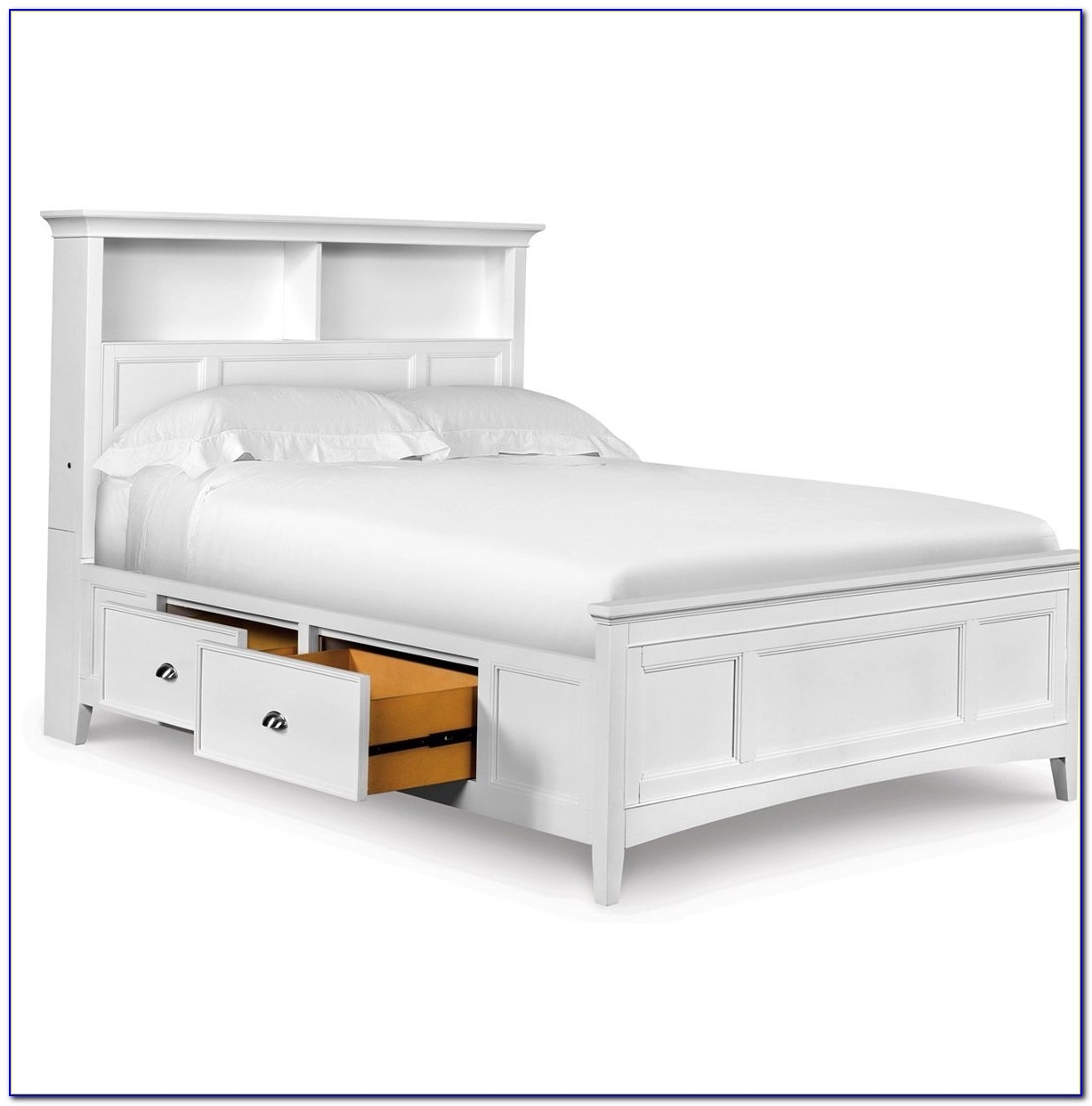 Full Size Bookcase Bed With Storage