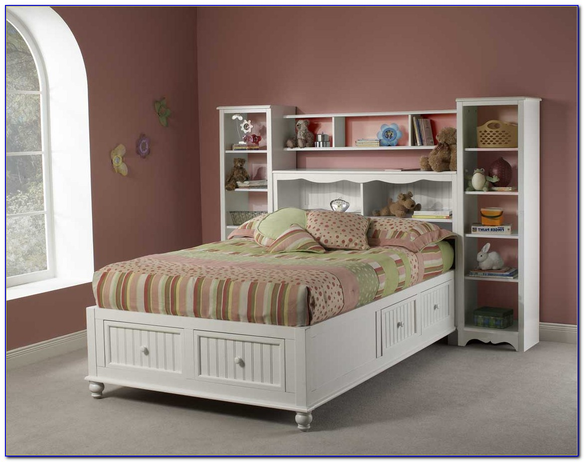 Full Size Bookcase Captains Bed