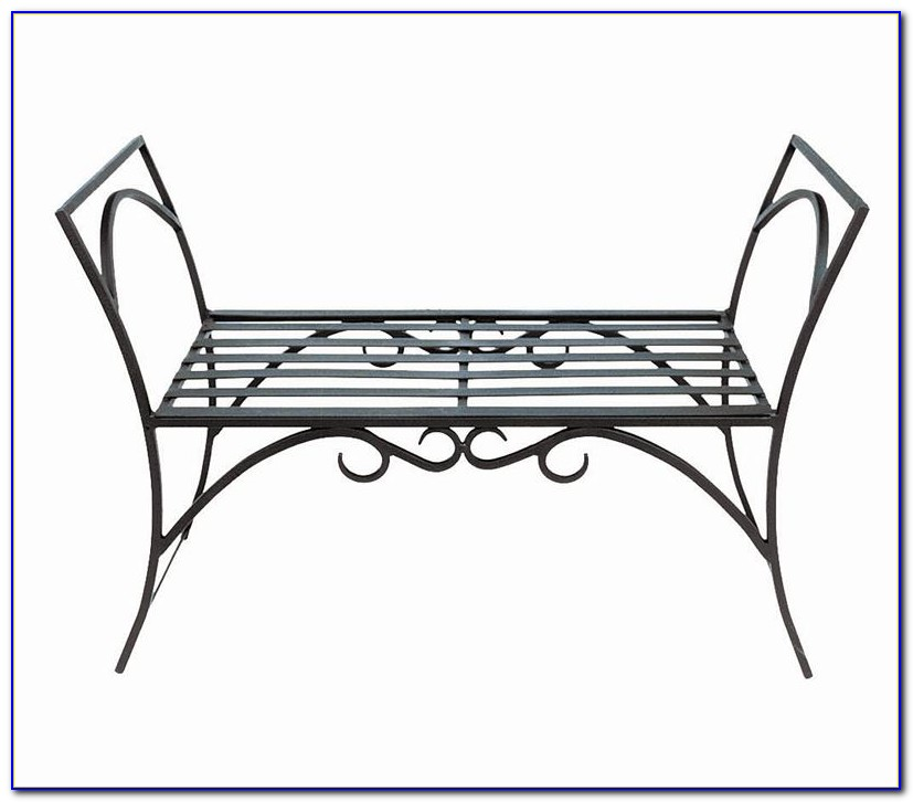 Garden Wrought Iron Bench
