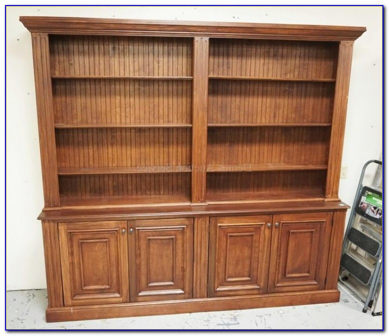 Garson Open Bookcase With Storage Cabinet Base