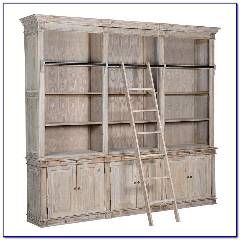 Glass Door Bookcases White