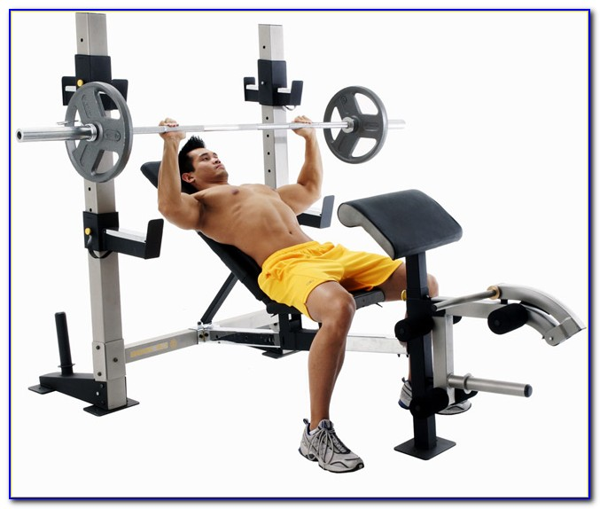 Golds Gym Weight Bench With Lat Pulldown