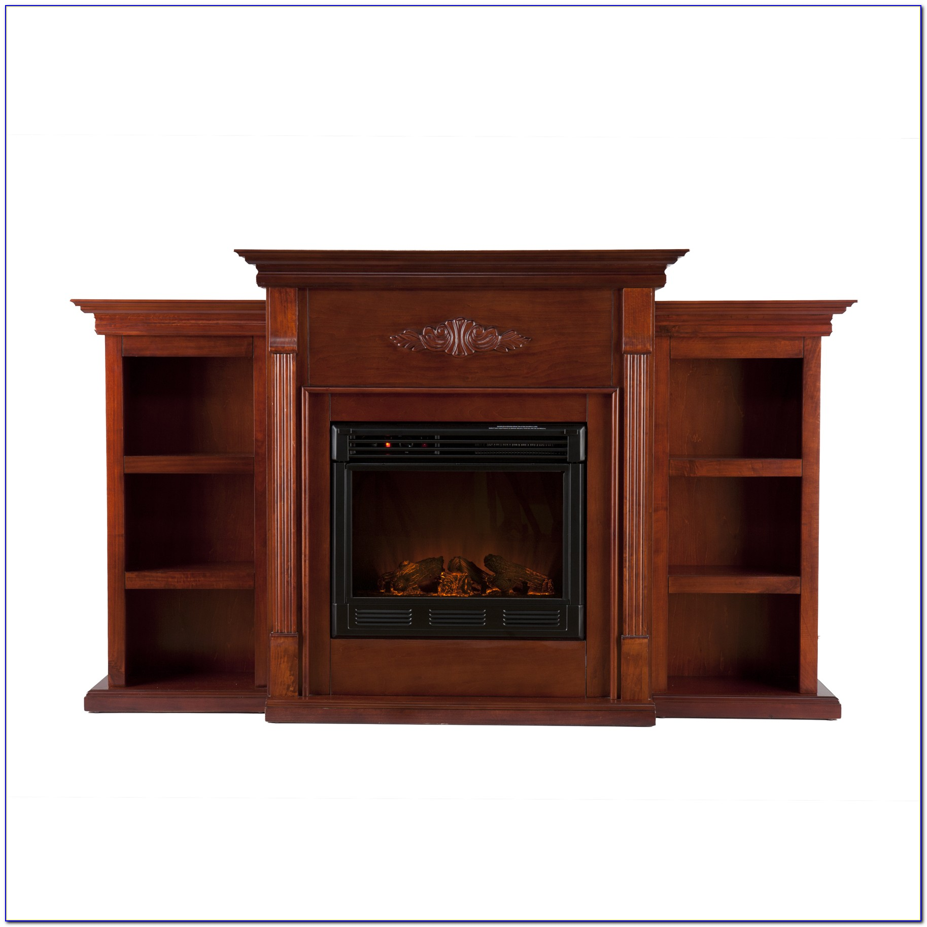 Griffin Electric Fireplace With Bookcases Ivory