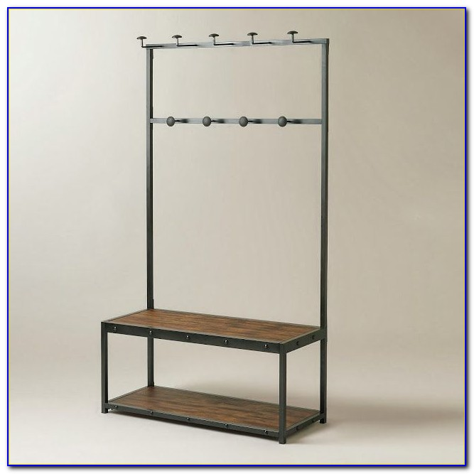 Hall Bench Coat Rack Storage