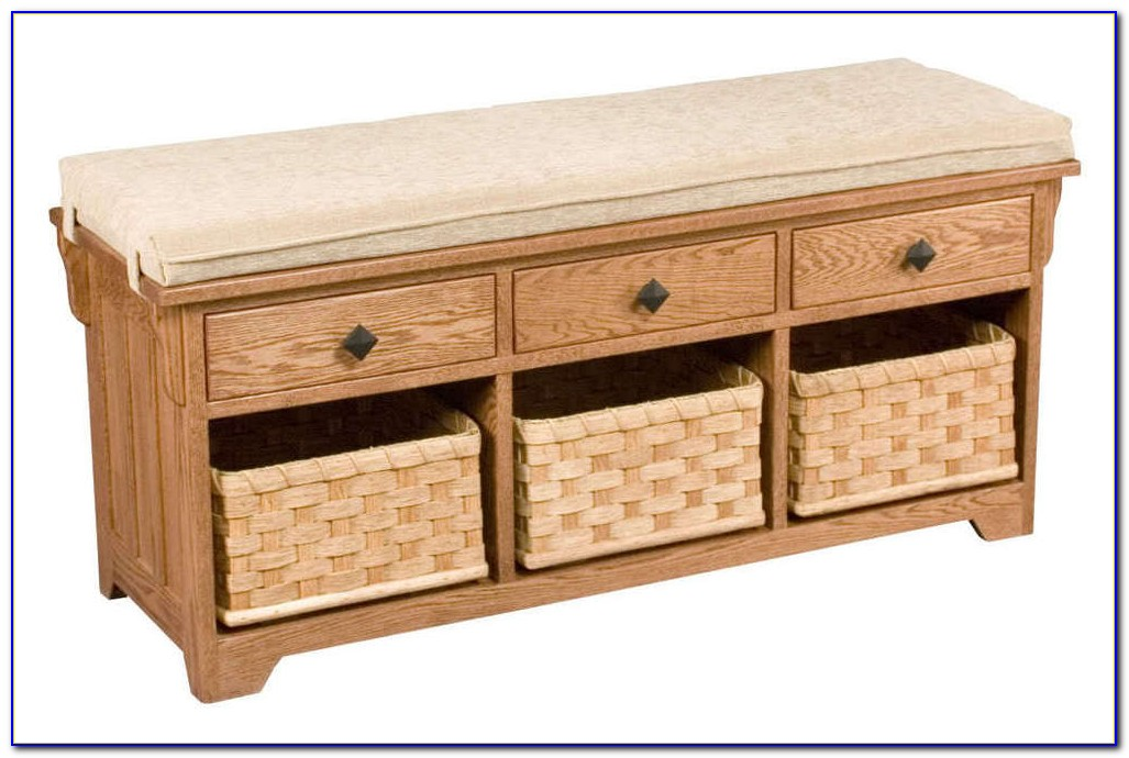 Hall Storage Bench With Baskets Ireland