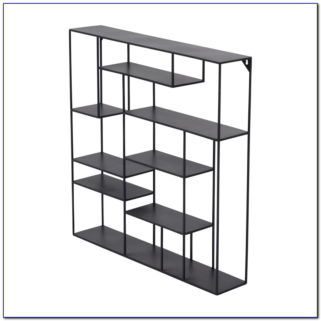 Hon Black Metal Bookcase