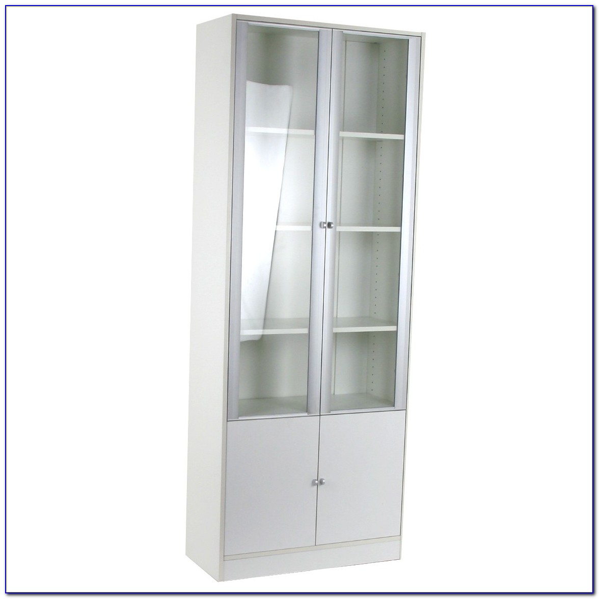 Ikea Hemnes Bookcase With Glass Doors