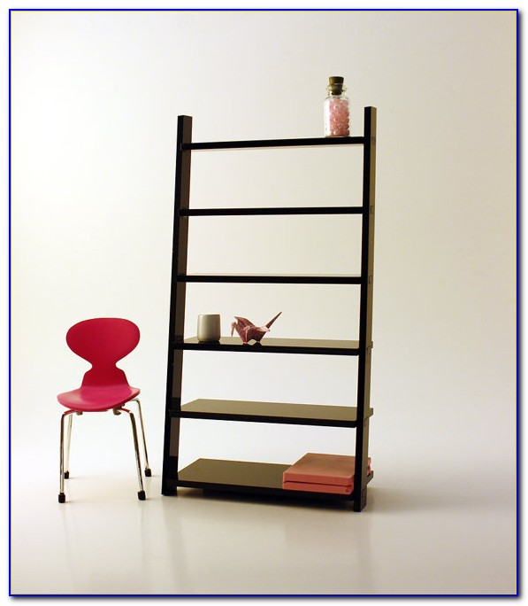 Jessie Black Wide Leaning Bookcase