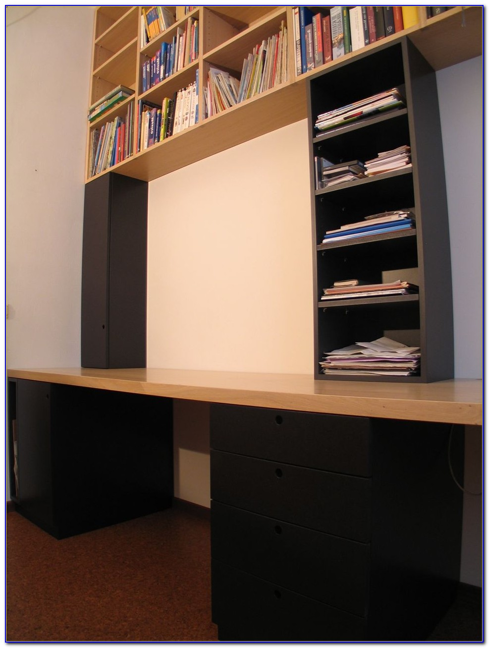 Ladder Bookcase Desk Combo