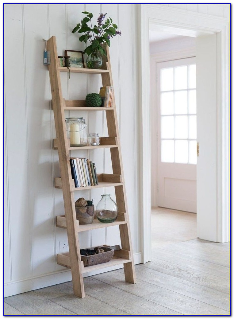 Ladder Shelf Bookcase White