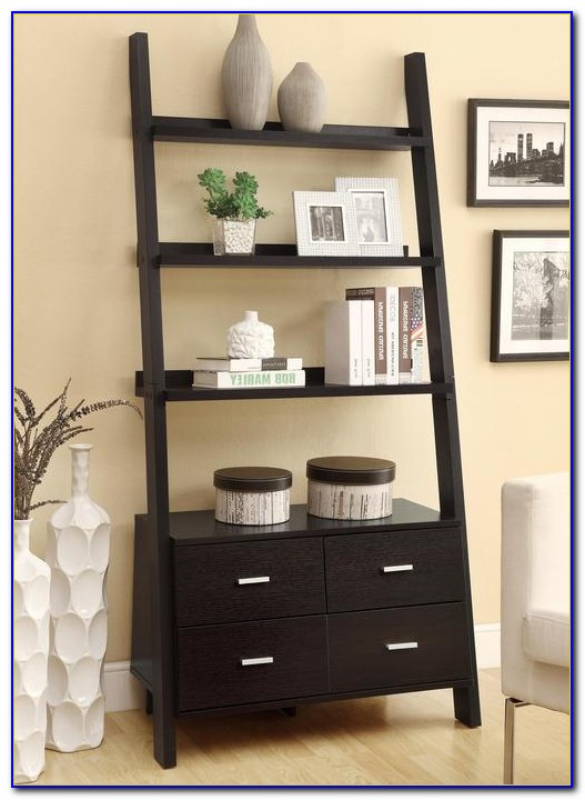 Ladder Shelf With Drawers Canada