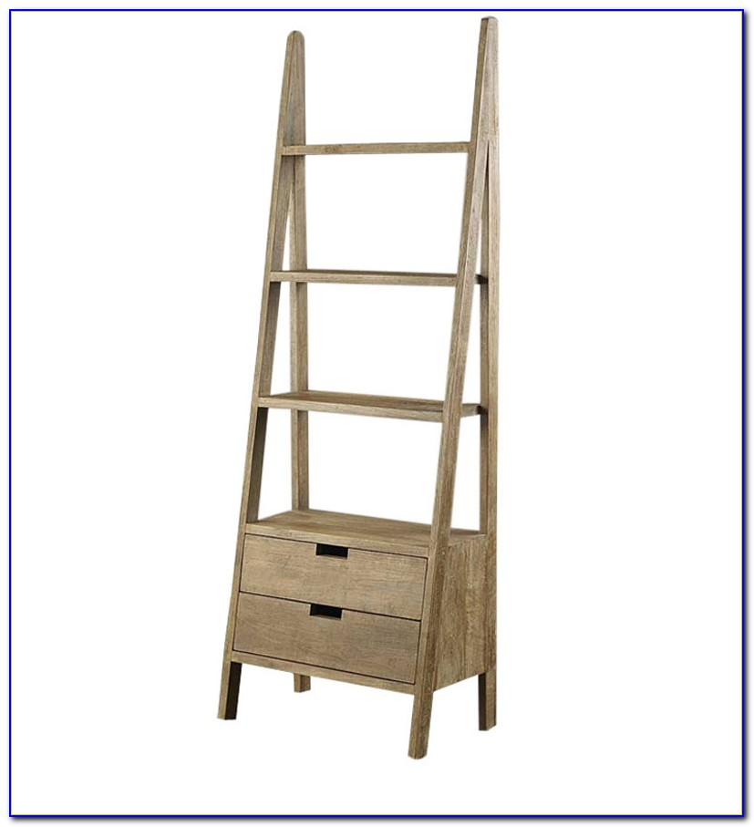Ladder Shelves With Drawers
