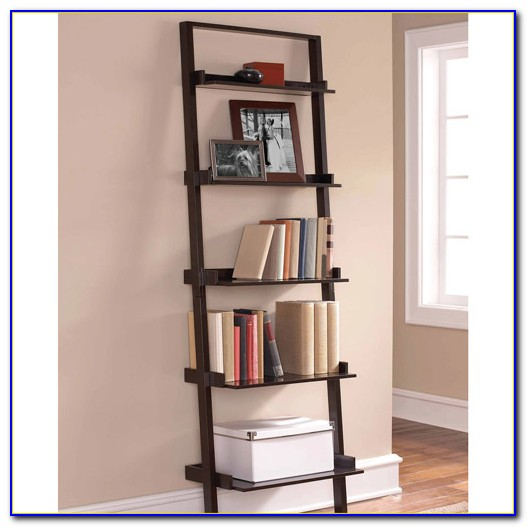 Leaning Ladder 5 Shelf Bookcase Espresso Instructions