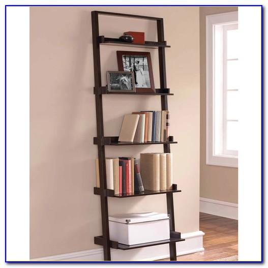 Leaning Ladder 5 Shelf Bookcase Espresso Instructions