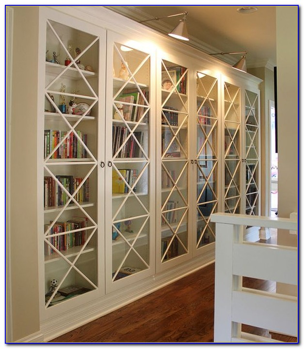 Library Bookcase With Glass Doors