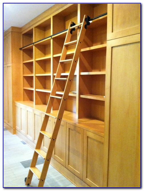 Library Bookcase With Ladder Perth