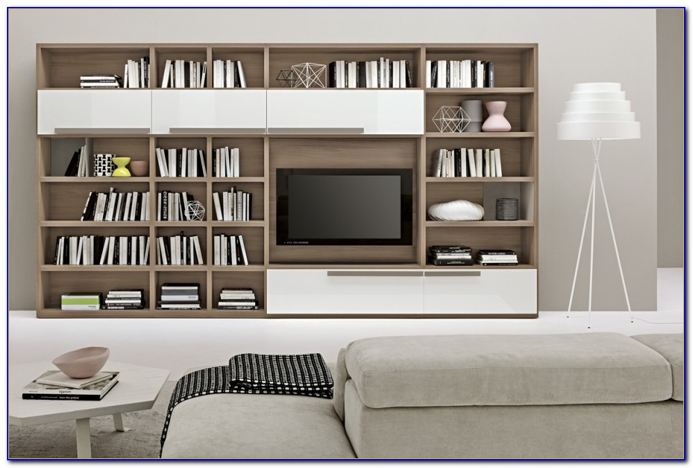 Living Room Bookcase White