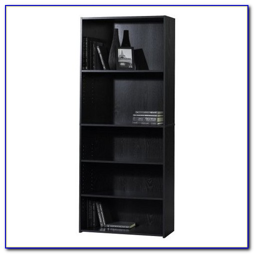 Mainstays 5 Shelf Bookcase Black Oak