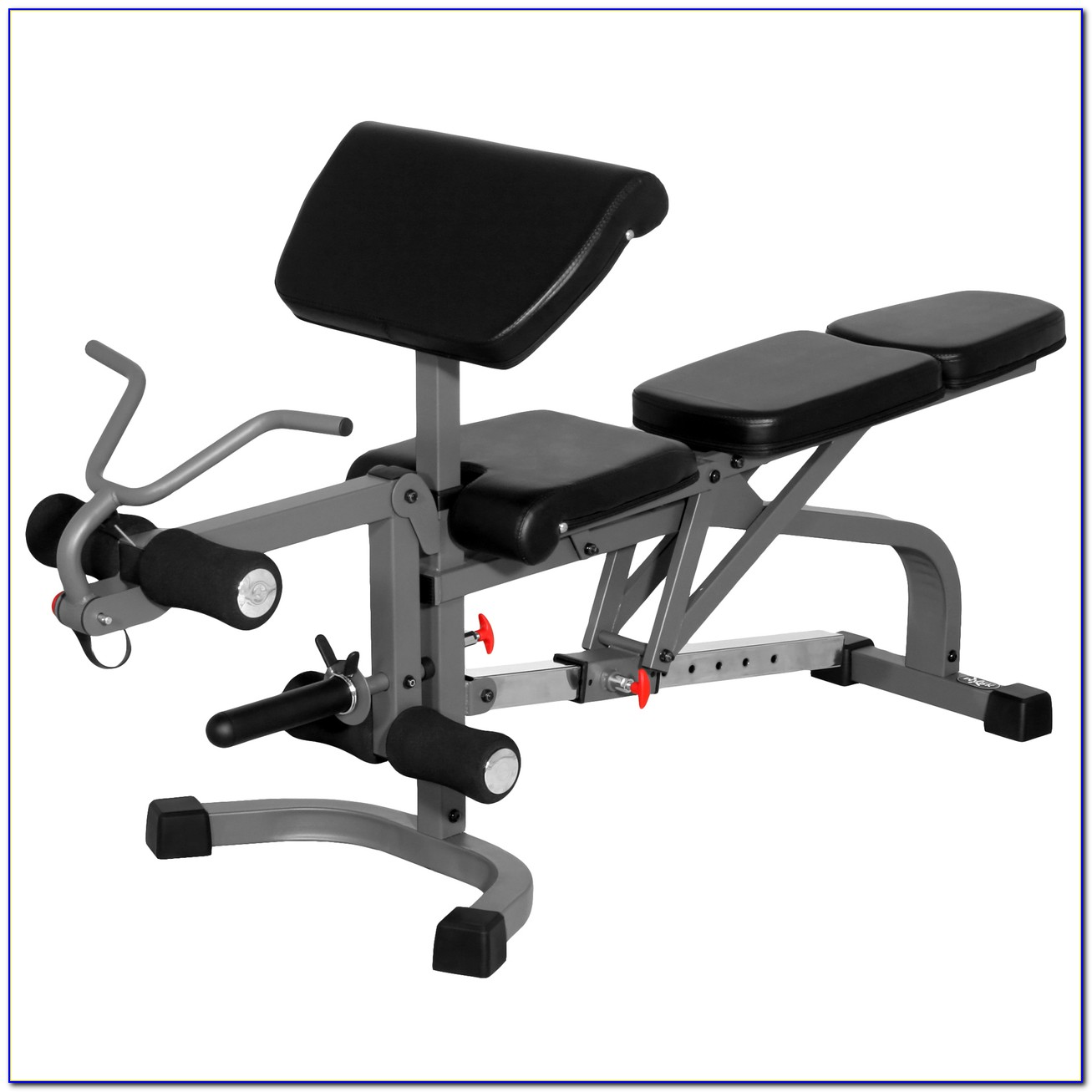 Marcy Standard Weight Bench Press With Butterfly Leg Preacher Curl Attachments