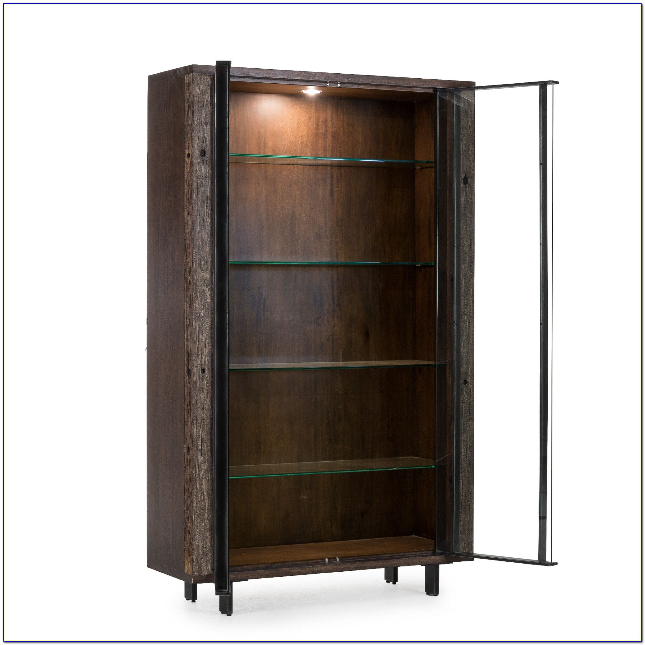 Metal Bookcase Glass Doors