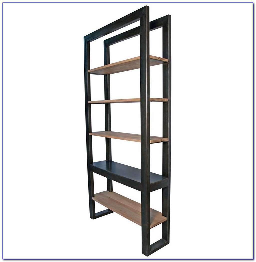 Metal Reclaimed Wood Bookcase