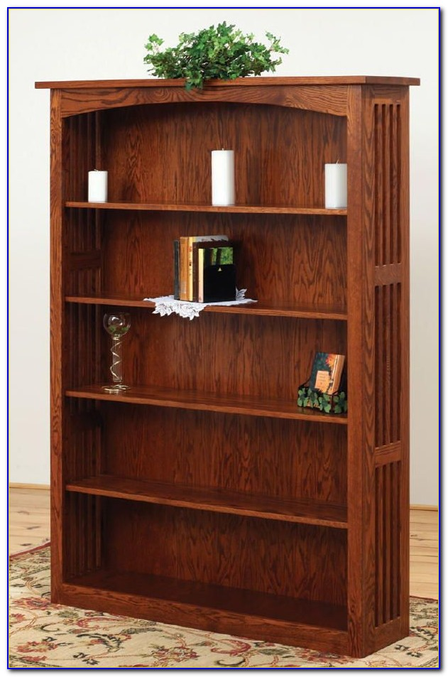 Mission Style Bookcase Glass Doors