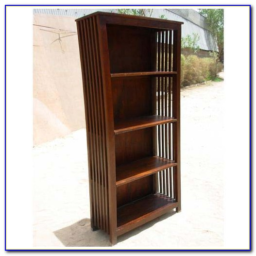Mission Style Bookcase With Drawers