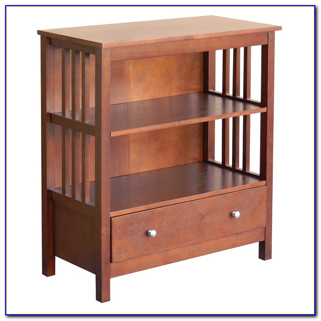 Mission Style Built In Bookcases