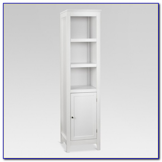Narrow Bookcase With Doors