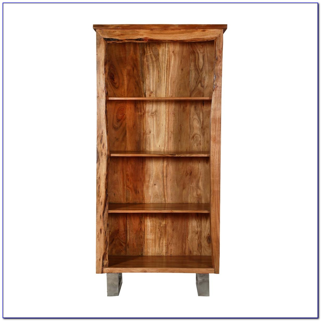 Natural Wood Corner Bookcase