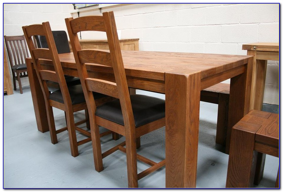Oak Refectory Table And Benches